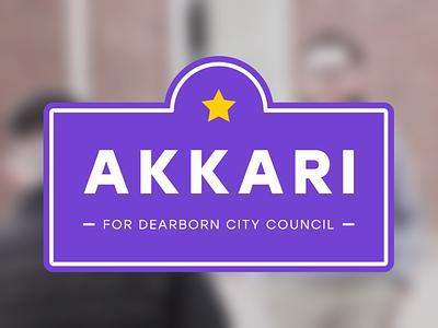 Jon Akkari Campaign Logo political campaign logos politics