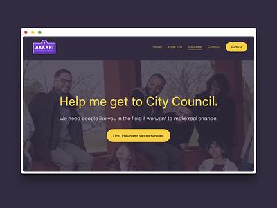 Jon Akkari Website web design political campaign politics