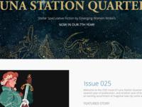 Luna Station Quarterly redesign mockup