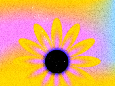 Beauty & Grief vectorart flower gradient illustration digital