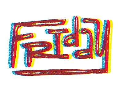 Friday 3d typography overlay type friday