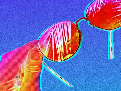 Always Need art direction editorial spring summer miami neon manipulation sun sunglasses photo
