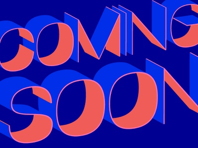 Coming Soon nyc miami bright colors dimension photoshop effects numbers type movie soon coming