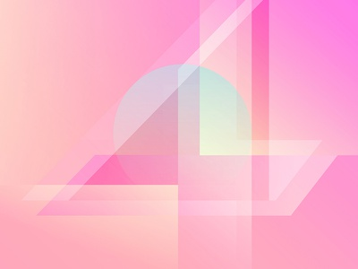 Number 4 geometric pink numbers light typography gradient type number 4