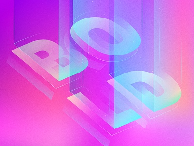 Bold geometric pattern numbers light typography gradient type number acrylic color bold