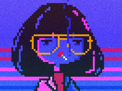 """We can fix you"" –Dr. Azumi smoke pixel maniac azumi illustration pixel art"