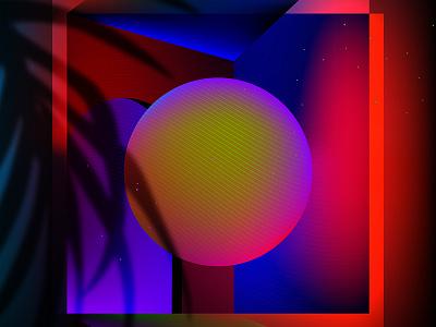 Risingson color vector miami illustration