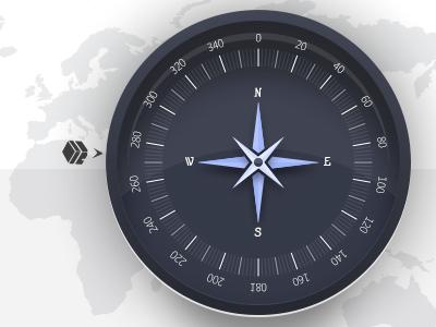 Compass compass world map