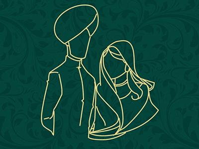 Wedding Card wedding card valima desi ceremony bride groom