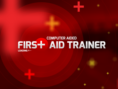 First Aid Trainer computer medical technical game splash screen