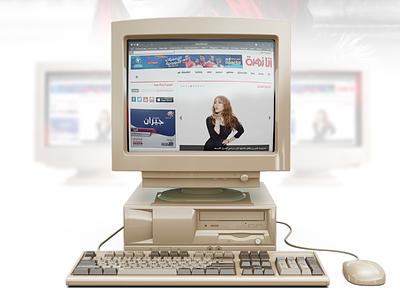 behance project mock website computer old behance anazahra