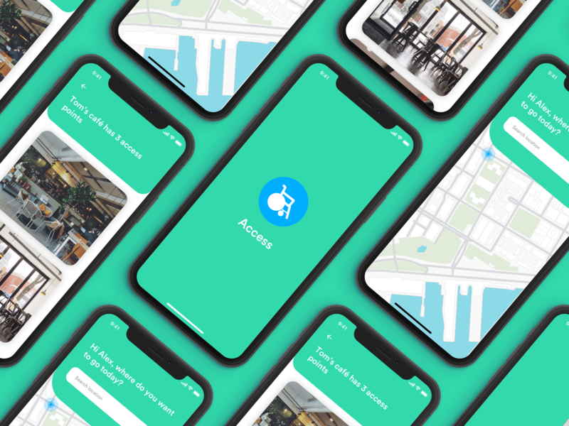 Access - An app to assist wheelchair users app design branding mobile design disabled accessibility wheelchair disability ui design visual design ux design product design concept app ux interaction design ui