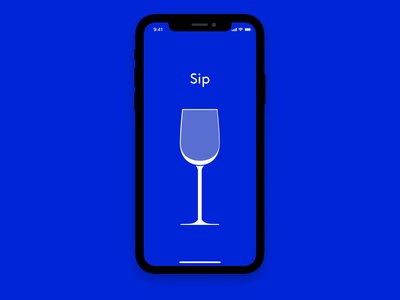 Sip motion design delivery app delivery subscription wine ios ux design after effects mobile product design interaction design branding visual design app ui