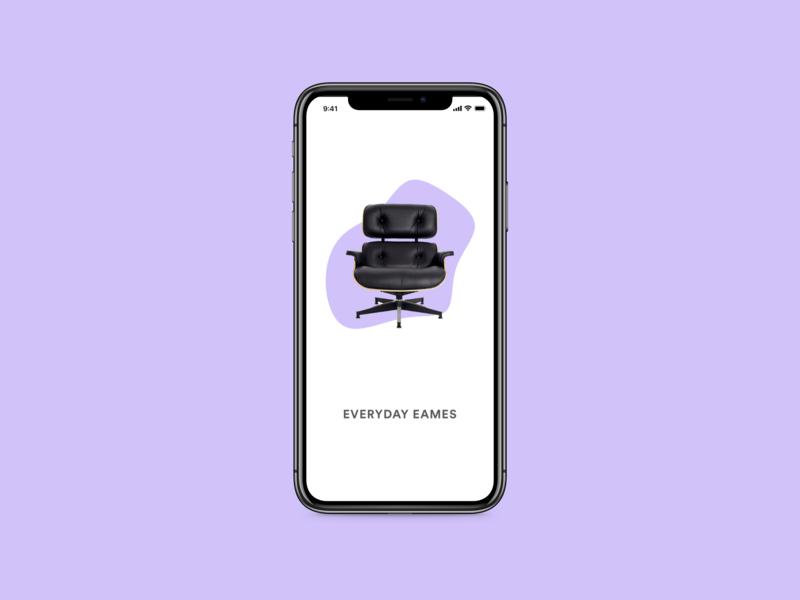 Eames Concept App iphone x chair furniture motion design eames eames chair concept app mobile ux design concept interaction design product design app adobe xd design ux ui