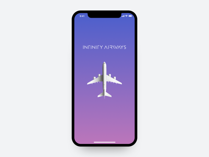 Infinity Airways - Airline Concept airline travel ui ux sketch principle motion design product design concept app mobile interaction design