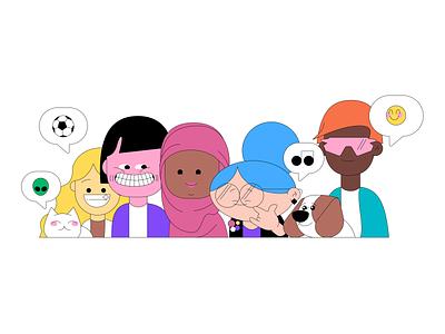 Diversity & Inclusion vector design branding illustration
