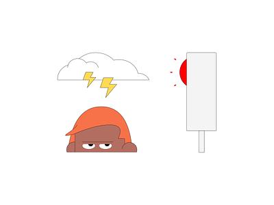 Bad Traffic Mornings design web vector branding illustration