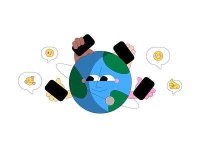 Communication belongs to everyone web design vector illustration branding