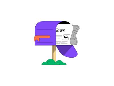 TextNow Newsletter app web design vector illustration branding