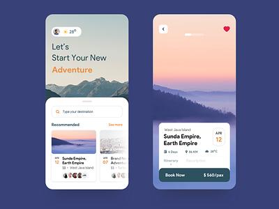 Scapa Travel App travel app mobile app app clean ui natural flat ux ui