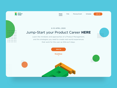 Tokopedia Product Camp Landing Page microsite illustration landing page home page clean ui app flat ux ui