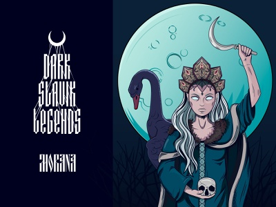 Morana art adobe illustrator vector fairytale death dark legends slavic supernatural myth characterdesign character
