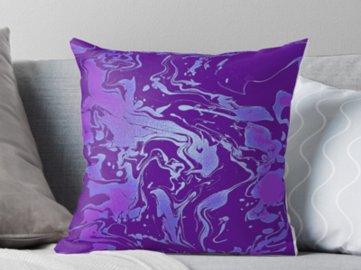 Ultra Violet - throw pillow