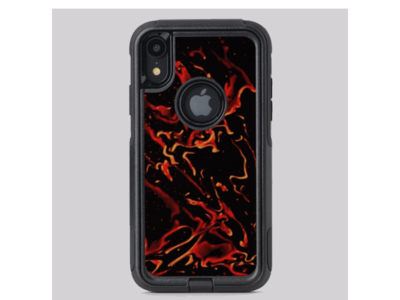 Hot Lava - otterbox phone case fire phones phone case otterbox iphone apple zazzle lava gold orange black red print print design pattern design liquid illustration fluid design abstract design swirls