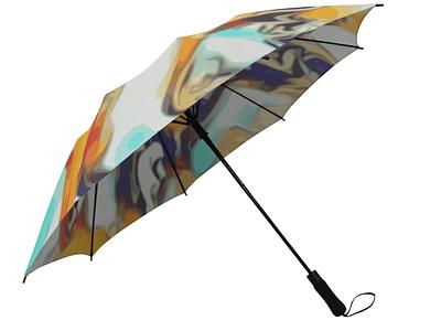 Color Boy - automatic umbrella gold accessories multicolour multicolor white graphic design digital art rainbow automatic umbrella visual art visual design liquid print print design pattern design fluid design illustration abstract design swirls