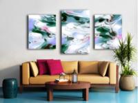 Shivers - cross triptych split canvas print