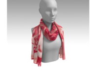 Red Wine Celebration - long silk scarf