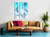 Ice Cave - triptych canvas print