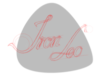 """First Draft, Logo for the singer & guitarist """"Iron Leo"""""""