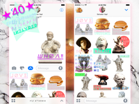 WTF aesthetics iMessage stickers for ғ i ȷ i Б ೦ ʌ ɾ ᑯ