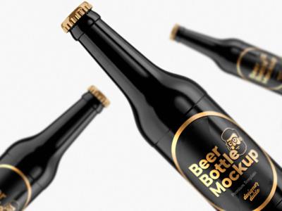 Beer Bottle Mockup Template ( Free Download )