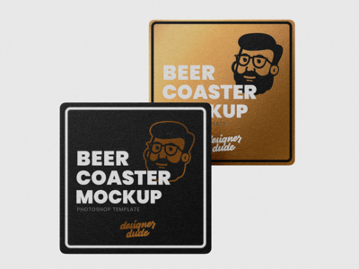 Beer Coaster Mockup PSD Template ( Free Download )