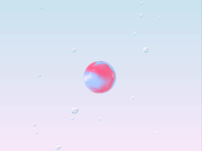 icon exploration #2 geometic simple logo artist c4d glass generative art animation ui pink motion contemporary air aep cgi 3d