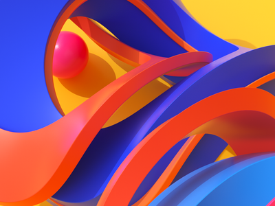 abstract background poster festive summertime colors digital art 3d artist orange curves wallpaper abstract art design sphere colorful background abstract art 3dillustration 3d cgi c4d