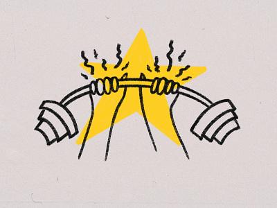 A* for Effort strength weights lifting web illustration health illustration health app gym illustration gym app fitness illustration fitness app exercise illustration exercise app exercise editorial illustration editorial digital illustration digital art blog illustration bicep curl article illustration