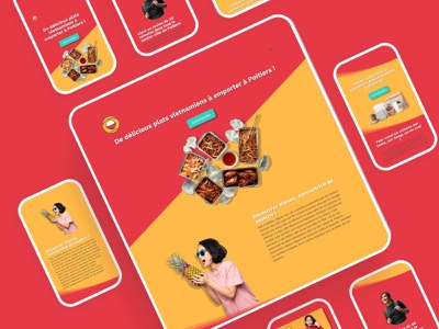 Plats vietnamiens à emporter wordpress restaurant branding asian food restaurant website webdesign