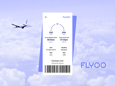 Daily UI #024 - Boarding Pass daily ui 024 boarding pass app daily ui dailyui