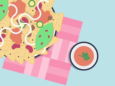 I'ts Nachos Time! illustrator foodies tasty tortilla food illustration illustration food nachos