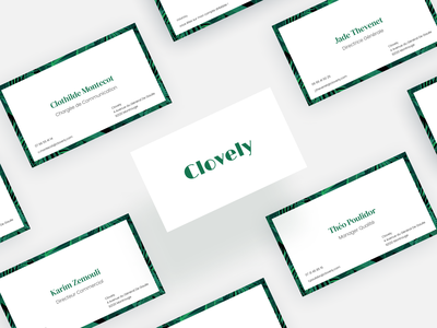Clovely - Business Card natural plants business card design business card branding design branding