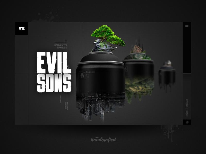 EVIL SONS Landingpage freelancer germany hamburg evilsons graffiti webdesign landingpage design ui screendesign