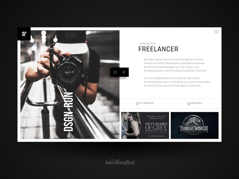 Landing Page Freelancer Portfolio germany freelancer ui landingpage homepage webdesign screendesign