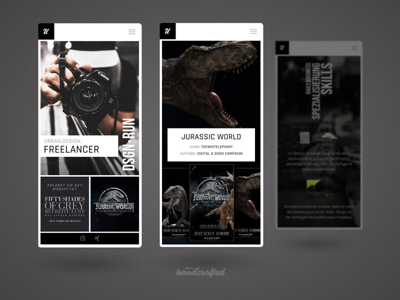 Landingpage Freelancer Portfolio Mobile hamburg mobile design mobile ui mobile germany freelancer design ui homepage webdesign screendesign