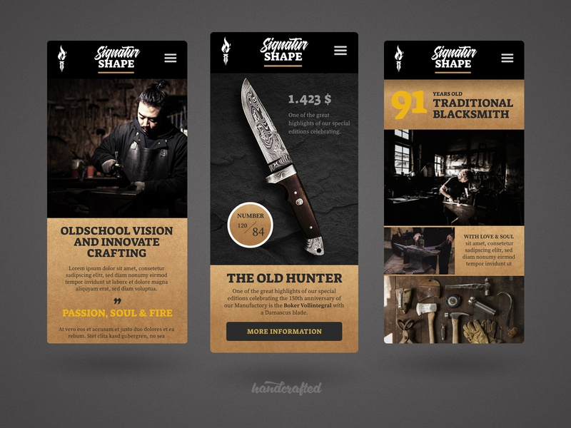 Mobil Signatur Blacksmith ... hamburg germany freelancer ui landingpage webdesign homepage screendesign