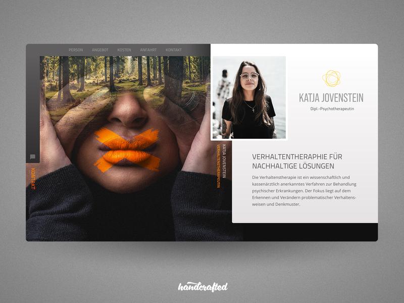 Website concept for a modern Psychotherapist ui hamburg germany freelancer landingpage homepage webdesign screendesign