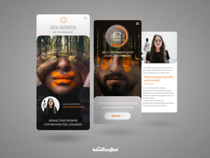 Mobil First ... design germany hamburg freelancer ui landingpage homepage webdesign screendesign