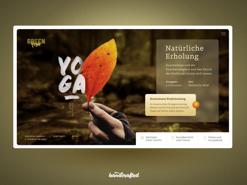 Yoga Outdoor Studio hamburg germany freelancer ui landingpage homepage webdesign screendesign